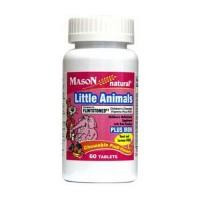 Mason Natural Little Animals Plus Iron, Fruit Flavour - 60 Tablets