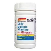 Mason Natural Daily Multiple Vitamins With Minerals - 60 Tablets