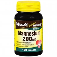 Mason Natural Magnesium 200 Mg Dietary Supplement Tablets - 100 Ea