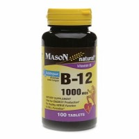 Mason natural vitamin B-12 1000 mcg sublingual tablets - 100 ea