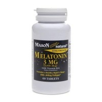 Mason natural melatonin 3 mg with Vitamin B6 capsules - 60 ea