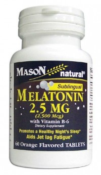 Mason Natural Melatonin Sublingual 2.5 Mg With Vitamin B-6 Capsules, Orange Flavour - 60 Ea