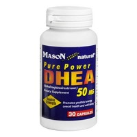 Mason Natural Pure Power DHEA 50 Mg Capsules, Double Strength - 30 Ea