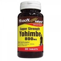 Mason Natural Super Strength Yohimbe 800 Mg For Sexual Health Tablets - 30 Ea