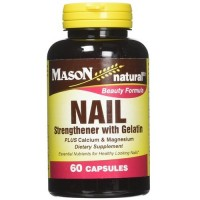 Mason Natural Nail Strengthener With Gelatin, Beauty Formula Capsules - 60 Ea