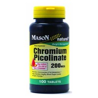Mason Natural Chromium Picolinate 200 Mcg Tablets - 100 Ea