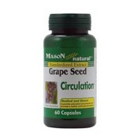 Mason Natural Grape Seed Capsules, Enhance Circulation - 60 Ea