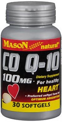 Mason natural CO Q-10 100 mg softgels - 30 ea