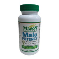 Mason Natural Male Potency Dietary Supplement Tablets For Sexual Health - 60 Ea