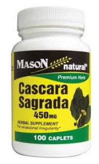 Mason Natural Cascara Sagrada 450Mg - 100 Caplets