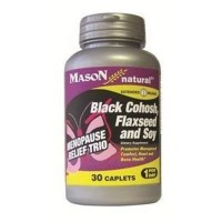 Mason natural menopause black cohosh, flaxseed and soy caplets - 30 ea