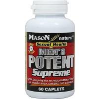 Mason Natural Mens Potent Supreme Caplets, Sexual Health - 60 Ea