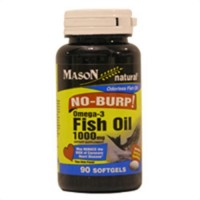 Mason Vitamins Fish Oil 1000 Mg No Burp Softgels - 90 ea