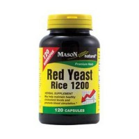 Mason Natural Red Yeast Rice 1200 Premium Herb Capsules - 120 Ea