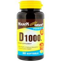 Mason natural vitamin D 1000 iu enhance calcium absorption softgels - 60 Ea