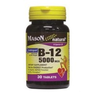 Mason natural vitamin B-12 5000 mcg sublingual tablets - 30 ea