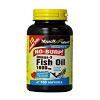 Mason Natural Fish Oil 1000 Mg Omega-3 No Burp Softgels - 100 Ea