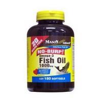 Mason Natural Fish Oil Omega-3 1000 Mg No Burp Softgels - 180 Ea