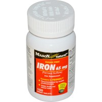 Mason Natural Ferrous Sulfate Iron Supplement Green Tablets - 100 ea
