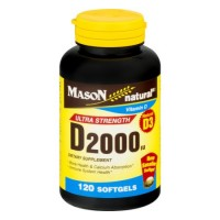 Mason natural vitamin D3 2000 Iu softgels - 120 ea
