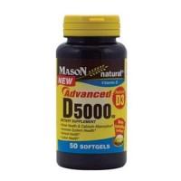 Mason natural advanced vitamin D 5000 Iu softgels - 50 ea