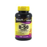 Mason Natural Super B-50 Complex With 400 Mcg Folic Acid tablets - 100 Ea