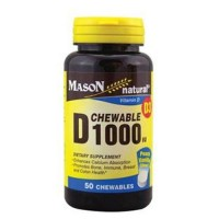Mason Natural Vitamin D3 1000Iu Chewable Tablets, Peach Vanilla Flavor - 50 Ea