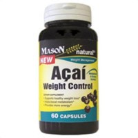 Mason Natural Acai Weight Control Dietary Supplement Capsules - 60 Ea