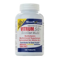 Mason Natural Vitrum 50 Plus Senior Multi Iron Free Tablets - 180 Ea
