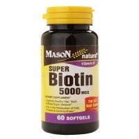 Mason Natural Super Biotin 5000 Mcg Softgels - 60 Ea