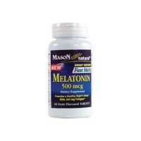 Mason Natural Melatonin 500 Mcg Fruit Flavored Tablets - 60 Ea