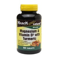 Mason Natural Magnesium And Vitamin D3 Tablets With Turmeric - 60 Ea