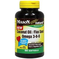 Mason Natural Coconut Oil and Flax Seed Omega 3-6-9 Softgels - 60 Ea