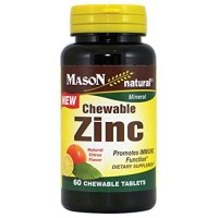 Mason natural zinc chewable natural citrus flavor - 60 ea