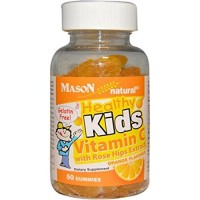 Mason healthy kids vitamin C with rose hips extract Jellies orange flavor - 50 ea