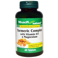 Mason natural Turmeric Complex with Vitamin D3 and Magnesium Dietary Supplement - 60 ea, 1 pack