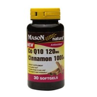 Mason Natural CO Q-10 120Mg, Cinnamon 1000Mg Softgels - 30 Ea