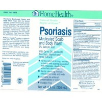 Home Health Psoriasis medicated scalp and body wash - 8 oz