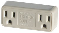 Farm Innovators-Farm thermo cube double receptacle cold weather outlet - 120 volt, 12 ea