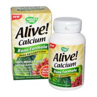 Natures way alive calcium bone formula tablets - 120 ea