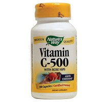 Natures Way Vitamin C-500 with Rose Hips Antioxidant Capsules - 100 ea