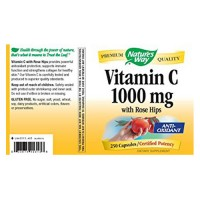 Natures Way Vitamin C-1000 With Rose Hips Capsules - 250 ea