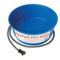 Farm Innovators Inc - Pet heated round pet bowl - 1 gal/60 watt, 6 ea