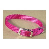 Hamilton Pet Company single thick nylon dog collar - 3/8 x 12 in, 4 ea