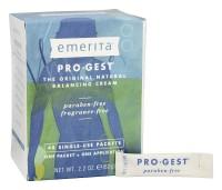 Emerita Pro gest original natural progesterone cream single use packets - 48 ea