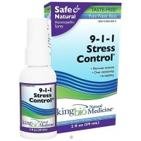 King Bio homeopathic spary 9-1-1 stress control - 2 oz
