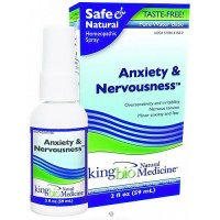 Dr. Kings natural medicine homeopathy anxiety and nervousness - 2 oz