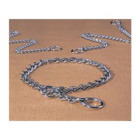 Hamilton Pet Company medium choke chain dog collar - 18 in, 4 ea
