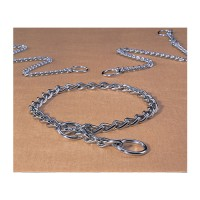 Hamilton Pet Company medium choke chain dog collar - 20 in, 4 ea