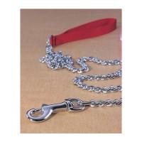 Hamilton Pet Company steel chain lead with nylon handle - fine 4ft, 4 ea